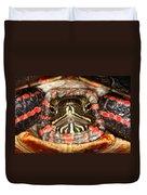 Painted Turtle Head Duvet Cover