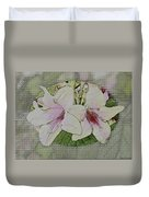 Painted Weigela Window Duvet Cover