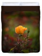 Painterly Yellow Rose Duvet Cover
