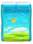 Painting Of Nature In Spring And Summer Duvet Cover
