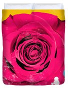 Painting Of Single Rose Duvet Cover