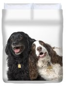 Pair Of Canine Friends Duvet Cover