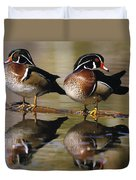 Pair Of Wild Birds Duvet Cover