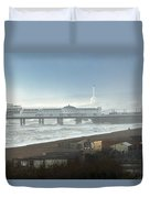Palace Pier And Shoreham Power Station Duvet Cover