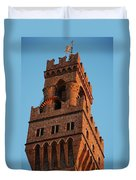 Palazzo Vecchio In Florence  Duvet Cover