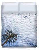 Palm And Dramatic Sky Duvet Cover
