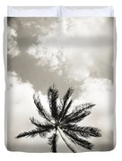 Palm And Sky Duvet Cover