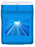 Palm Frond In Blue Duvet Cover