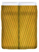 Palm Leaf Showing Midrib And Veination Duvet Cover