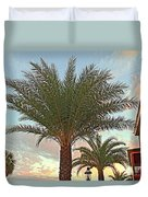 Palm On The Avenida Duvet Cover