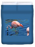 Palm Springs Flamingo Duvet Cover