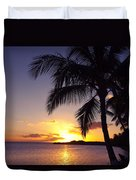 Palm Sunset Duvet Cover