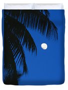 Palm Tree Silhouetted Against The Sky Duvet Cover