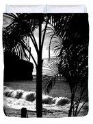 Palm Tree Silouette Duvet Cover