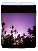 Palm Trees At Dusk, Malaysia, Southeast Duvet Cover