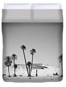 Palm Trees In The Sahara Desert Duvet Cover