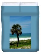 Palmetto And The Beach Duvet Cover