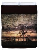 Palms And Docks Duvet Cover
