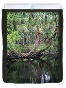 Palms On The River Duvet Cover