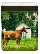 Palomino In Pasture Duvet Cover