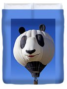 Panda Bear Hot Air Balloon Duvet Cover