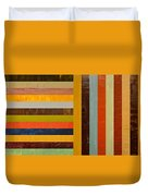 Panel Abstract - Digital Compilation Duvet Cover by Michelle Calkins