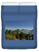 Panorama View Over Mountain Duvet Cover