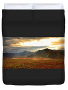 Panoramic Image Of Late Afternoon Duvet Cover