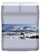 Panoramic Of An Unnamed Mountain Taken Duvet Cover