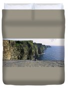 Panoramic View Of Cliffs, Cliffs Of Duvet Cover