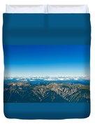 Panoramic View Zugspitze German Austrian Boarder Duvet Cover