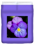 Pansy Face Duvet Cover