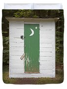 Paper Moon Outhouse Duvet Cover