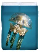 Papuan Jellyfish Mastigias Papua, Palau Duvet Cover