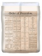 Parade For The Us Constitution Duvet Cover by Photo Researchers
