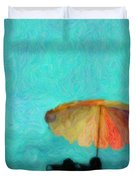 Paradise By The Sea Duvet Cover