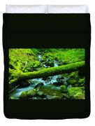 Paradise Of Mossy Logs And Slow Water   Duvet Cover