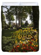 Parc Les Invalides In Spring Duvet Cover