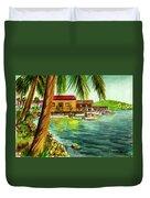 Parguera Fishing Village Puerto Rico Duvet Cover