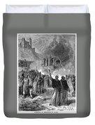 Paris: Burning Of Heretics Duvet Cover