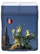Paris Horse Statue Duvet Cover