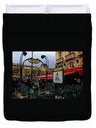 Paris Metro 1 Duvet Cover