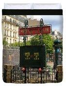 Paris Metro 3 Duvet Cover