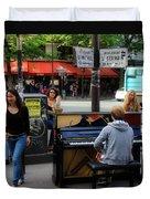 Paris Musicians 2 Duvet Cover
