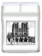 Paris: Notre Dame, 1600s Duvet Cover