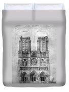 Paris: Notre Dame, 1848 Duvet Cover