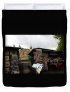 Paris Street Vendor 2 Duvet Cover