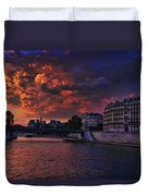 Paris Sundown Duvet Cover