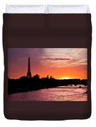 Paris Sunset Duvet Cover