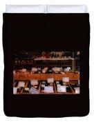 Paris Wine Shop Duvet Cover